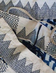 indigo: stitch work