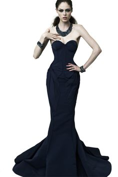 Zac Posen gown on Coco Rocha.