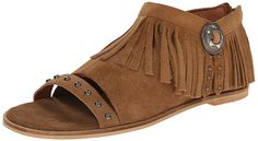 New Matisse Women's Coconuts Haro Flat Fringe Sandal Suede -- This is an Amazon Affiliate link. You can find more details by visiting the image link.