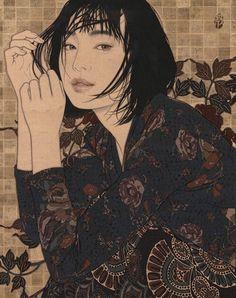 池永康晟(Ikenaga Yasunari 1965~)「雨熱・悠」(2017) Japanese Artists, Oriental Art, Figure Painting, Japanese Contemporary Art, Japanese Illustration, Female Art, Japanese Art Modern, Illustration Art, Art