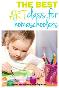 The Best Art Class For Homeschoolers - If you homeschool, this is the PERFECT art curriculum for your little ones. It is VERY reasonably priced, easy-to-use DVD with awesome teaching and creative little projects!