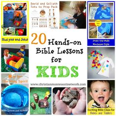 20 hands on bible lessons for kids toddlers воскресная школа Toddler Bible Lessons, Preschool Bible Lessons, Bible Activities For Kids, Bible Object Lessons, Bible School Crafts, Sunday School Activities, Bible Study For Kids, Sunday School Crafts, Kids Bible