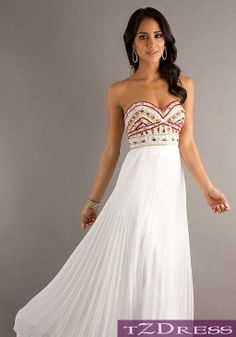 Beautifully designed hand beaded colorful corset top with long white drapery waterfall floor length gown ♡~ ☆☆☆