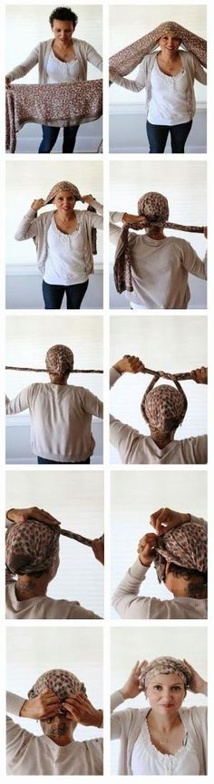 How to tie a braided crown after chemo // Poppy Haus - Frisur Ideen Bad Hair Day, My Hair, Coiffure Hair, Short Hair Styles, Natural Hair Styles, Natural Braids, Head Scarf Styles, How To Wear Scarves, Scarf Hairstyles