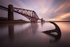"The Forth Rail Bridge near Edinburgh, Scotland. This image was shot from the beach in North Queensferry with me paddling up to the top of my welly boots and the tide half way up the tripod!           <a href=""http://www.elmstudio.com/iow"">Click here to improve your photography ... on the Isle of Wight</a> - Photography Workshops on the Isle of Wight -"