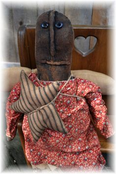 Lady Liberty Doll  Extreme Primitive Folk by thecuriouscrowdesign