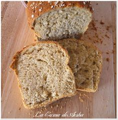 Pan de molde de avena y manzana