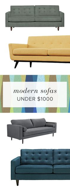 You don't have to break the bank to get the modern look. Shop modern contemporary sofas and other living room finds.