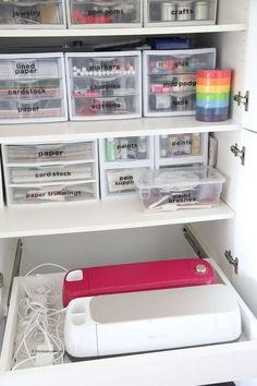 Use our Office Organization Tips to help you tackle your cluttered office space. Office Organization helps you regain control of your space which enables you to become more productive and successful in your work. organization home OFFICE ORGANIZATION TIPS Organisation Hacks, Stationary Organization, Office Organization At Work, Craft Organization, Organized Office, Organize Office Supplies, Office Supply Storage, Organizing Tips, Organizing Small Office Space