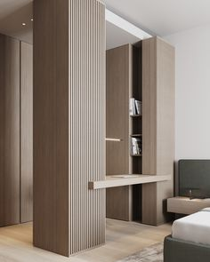 Bedroom Study Rooms, Luxurious Bedrooms, Room Interior, Bookshelves, Guest Room, Office Decor, Shelving, Home Goods, Divider
