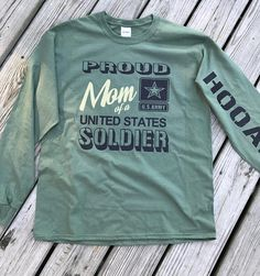 8619a53d24 Proud Army Mom Long Sleeve Tee Military Relationships, Military Careers, Military  Mom, Army