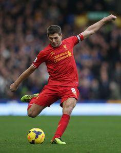 Steven Gerrard - Everton v Liverpool - Premier League