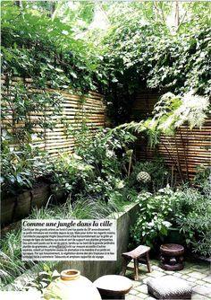 Aménagement d'une terrasse à Paris par Virgile Desurmont (publication dans Marie-Claire Maison)