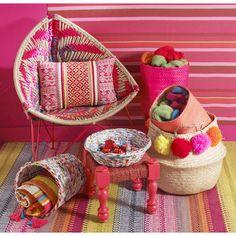 Tappeto intrecciato multicolore in cotone 230 x 160 cm KIGALI