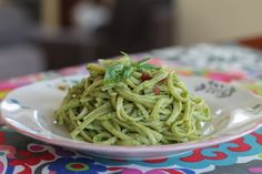 Food Lust People Love: Easy Avocado Lemon Basil Pesto from Kathy Hester