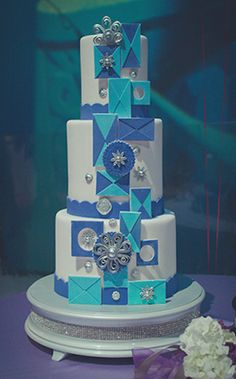 Our Favorite Disney Wedding Cakes, It's a Small World wedding cake.