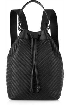 Iris and Ink Ruby chevron-quilted leather backpack     THE OUTNET
