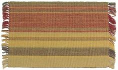 Durable Hand Woven 100% Cotton Colorful Brown and Rust Striped Placemat 12x18 Inches Set / 6 by Traders and Company. $36.00. Available in Many Patterns and Colors. See our Storefront.. All Patterns Available as Napkins, Runners, Dishtowels and Tablecloths. 100% Cotton. This hand loomed cotton Placemat adds color to your dining table.