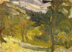 'landschaft studie', 1907 von Richard Gerstl (1883-1908, Austria)