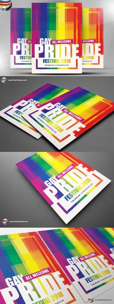 Gay Pride Festival Flyer Template. Flyer Templates. $9.00