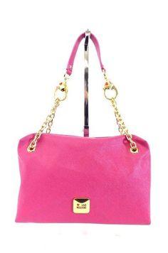MOSCHINO LOVE LEDER SCHULTER TASCHE BAG rosa - WIE NEU! LUXUS! /AZ652
