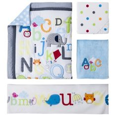 Circo® 4pc Crib Bedding Set - A-b-c Dreams