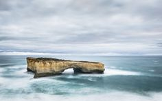 London Arch (formerly London Bridge) is an offshore natural limestone arch formation in the Port Campbell National Park, Australia. near Port Campbell (Victoria).