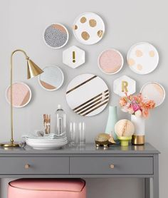 gold-accented dishes by Oh Joy for Target