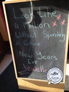 New years eve jewellery Chalkboard Signs, New Years Eve, Art Quotes, Jewellery, Creative, Jewels, Schmuck, Jewelry Shop, Jewlery