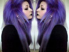 Fancy Hairstyles, Straight Hairstyles, Scene Girl Fashion, Emo Scene Hair, Goth Hair, Hair Heaven, Dye My Hair, Purple Hair, Red Hair