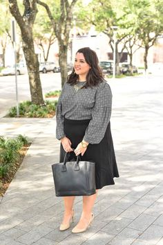 I spend most of my time in business casual work wear for my full time job. With the changes in my body from spending so much time on the spin bike, I have had a hard time finding pencil skirts that work well with my body. When Gwynnie Bee challenged me to share my style resolution, I knew wearing a pencil skirt to work was going to be a trend that I wanted to try again. I'm sharing my take of how to style a pencil skirt for a corporate office on the curvy style and travel blog, Something…