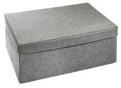 Aufbewahrungsbox Filz Grau Deckel