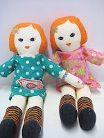Dolls I designed for Clothkits