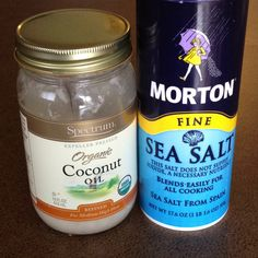 this is by far the best DIY exfoliating scrub! Melt a spoonful of organic coconut oil and add enough fine sea salt to make a thick scrub. Use it in the shower, moisturize after and you'll have silky smooth skin... Trust me!!