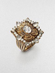 Stephen Dweck - Semi-Precious Multi-Stone Flower Ring