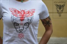 T-shirt ladies - dead moth and sphynx - PROMO