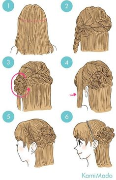 Hairstyles for this winter: manuals for the most fashionable hairstyles anleitung Hairstyles for this winter: manuals for the most fashionable hairstyles Cute Simple Hairstyles, Braided Hairstyles, Cool Hairstyles, Braided Updo, Medium Hair Styles, Short Hair Styles, Hair Arrange, Cool Braids, Anime Hair