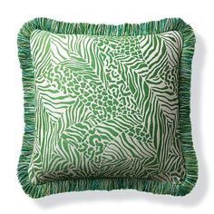 Patchwork Wilds Kiwi Outdoor Pillow - Frontgate