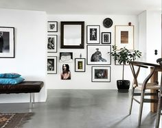 Vibrant gallery wall.