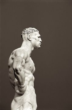 'Statue at Foro Italico (Stadio dei Marmi) in Rome' by Czech photographer Petr Svarc. ty, antonio m on tumblr. via Redbubble