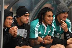 Liam Messam Photos Photos - (L-R) Hosea Gear, Liam Messam, Ma'a Nonu and Sonny Bill Williams look on during the New Zealand All Blacks Captains Run at Murrayfield Stadium on November 2010 in Edinburgh, Scotland. - New Zealand All Blacks Captain's Run Rugby League, Rugby Players, Hosea Gear, Liam Messam, Richie Mccaw, Light Skin Men, Polynesian Men, Sonny Bill Williams, All Blacks Rugby