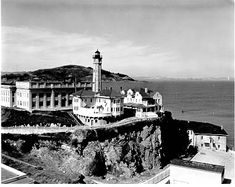 Alcatraz Island Lightstation was established in 1854. The original lighthouse was damaged during the San Francisco Earthquake of 1906. The replacement lighthouse was first lit in 1909. The lightstation shared the island with a famous federal prison. Though both facilities are inactive and are now museums the lighthouse light is still operational and fully automated.