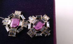 Stone Earrings, Square Watch, Jewellery, Purple, Accessories, Jewels, Schmuck, Jewelry Shop, Viola