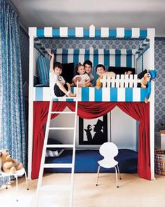Bunk beds for sleep and play