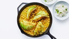 Turmeric and Coconut-Braised Cabbage With Chickpeas Recipe   Bon Appétit Braised Cabbage, Chickpea Recipes, Vegetarian Recipes, Cooking Recipes, Delicious Recipes, Yummy Food, Healthy Recipes, Entree Recipes, Recipes