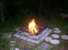 Easy DIY fire Pit from Recycled Granite