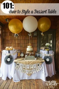 """How to Style a Dessert Table - Country Music Awards Party - The Party Teacher 