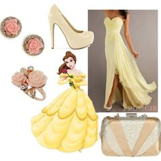 how to dress like disney princesses for prom belle