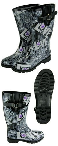 Love Is Purple Paw Rainboots at The Animal Rescue Site- Funds 84 bowls of food. $49.95