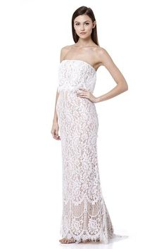 214a828a56cb Adeline All Over Lace Bandeau Maxi Dress